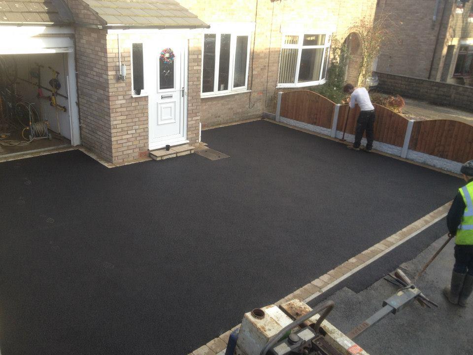 Black Tarmac Driveway In Barnoldswick