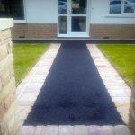 black tarmac footpath