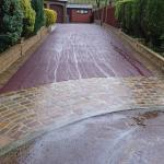 red tarmac drive after