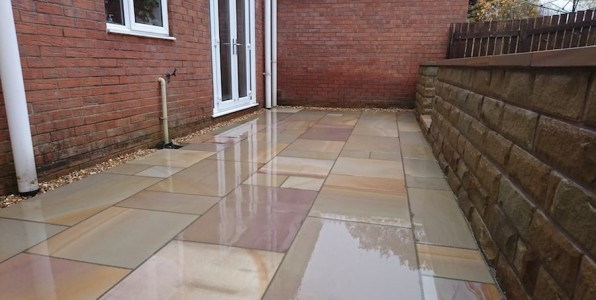 indian stone patio after