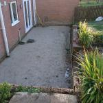 indian stone patio being excavated before