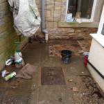 back yard excavation